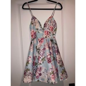 Blue floral sundress